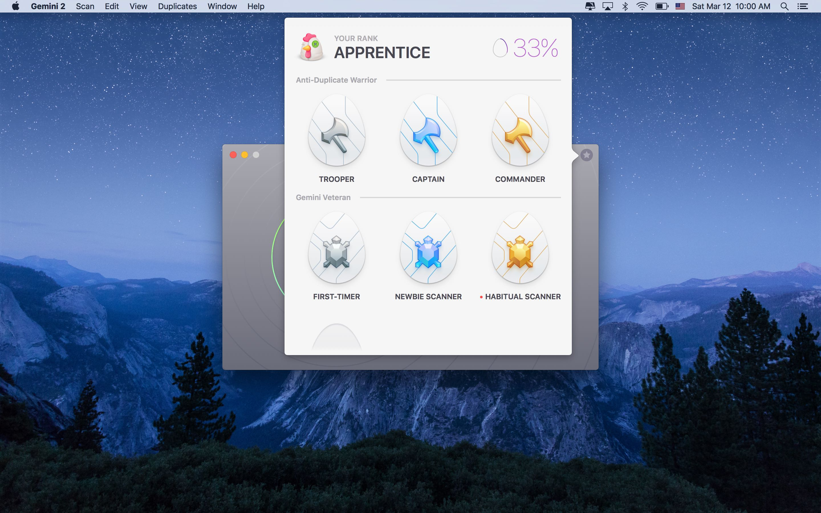 Captura de pantalla 001 de Gemini 2.0 para OS X Achievements Mac
