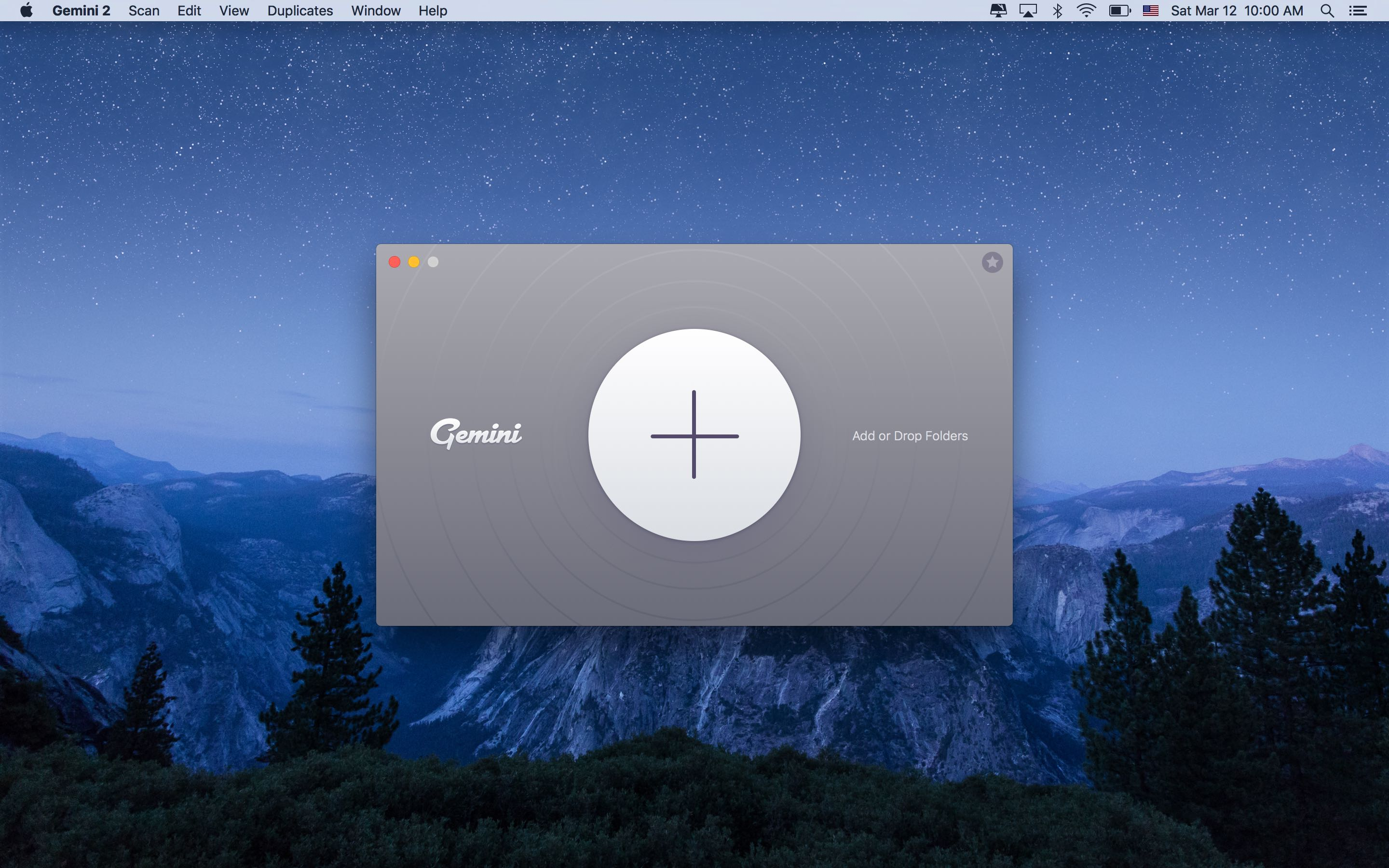 Gemini 2.0 for OS X launch screen Mac screenshot 003