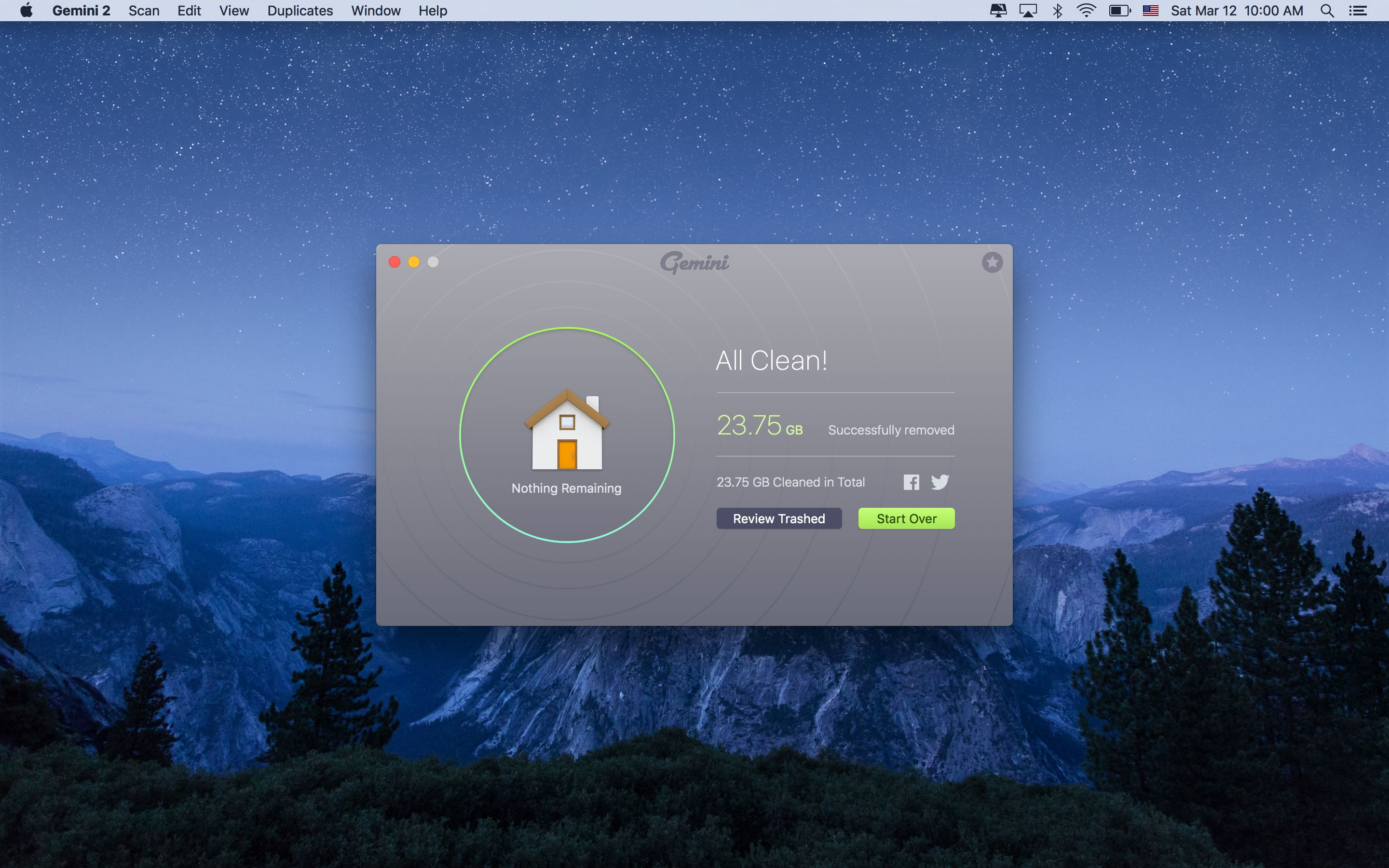 Gemini 2.0 for OS X removal progress Mac screenshot 002