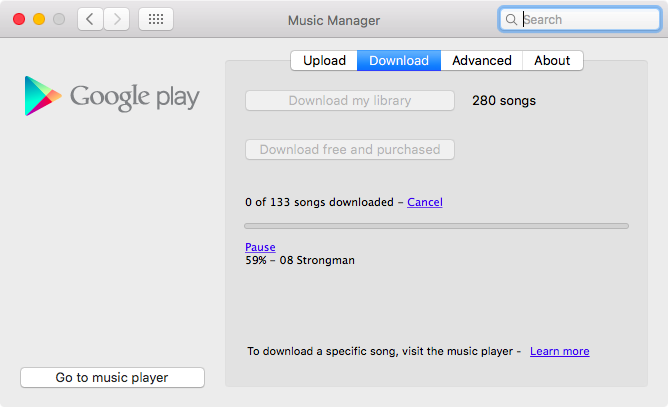 Google Play Music Manager for Mac screenshot 008