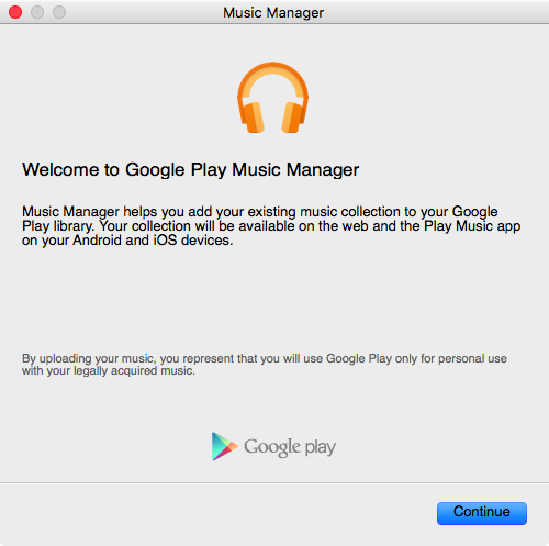 Google Play Music Manager for Mac web screenshot 002