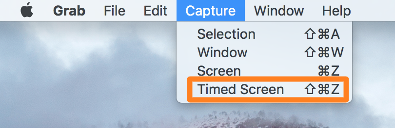timed screenshot Mac