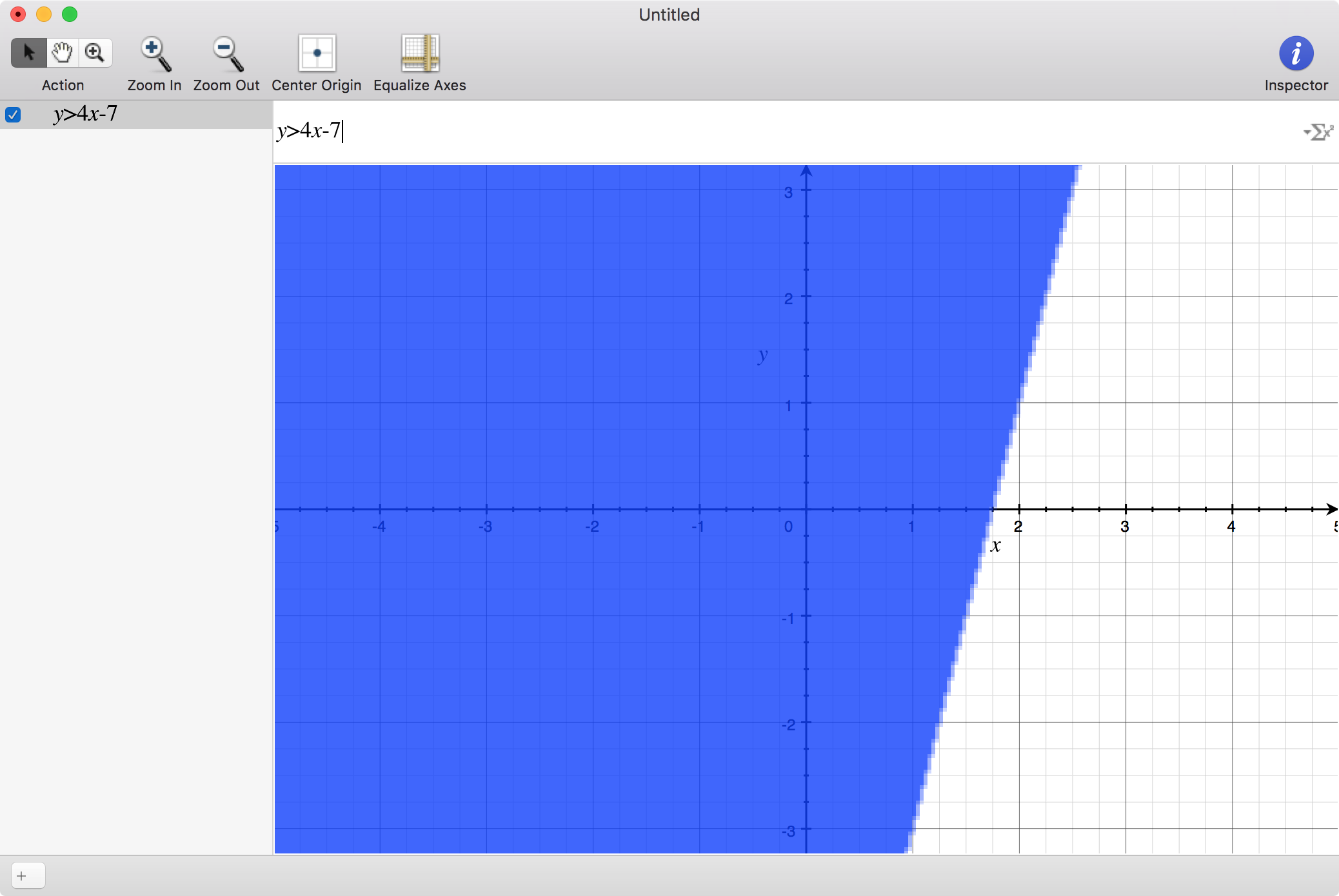 Graphing an inequality on a Mac