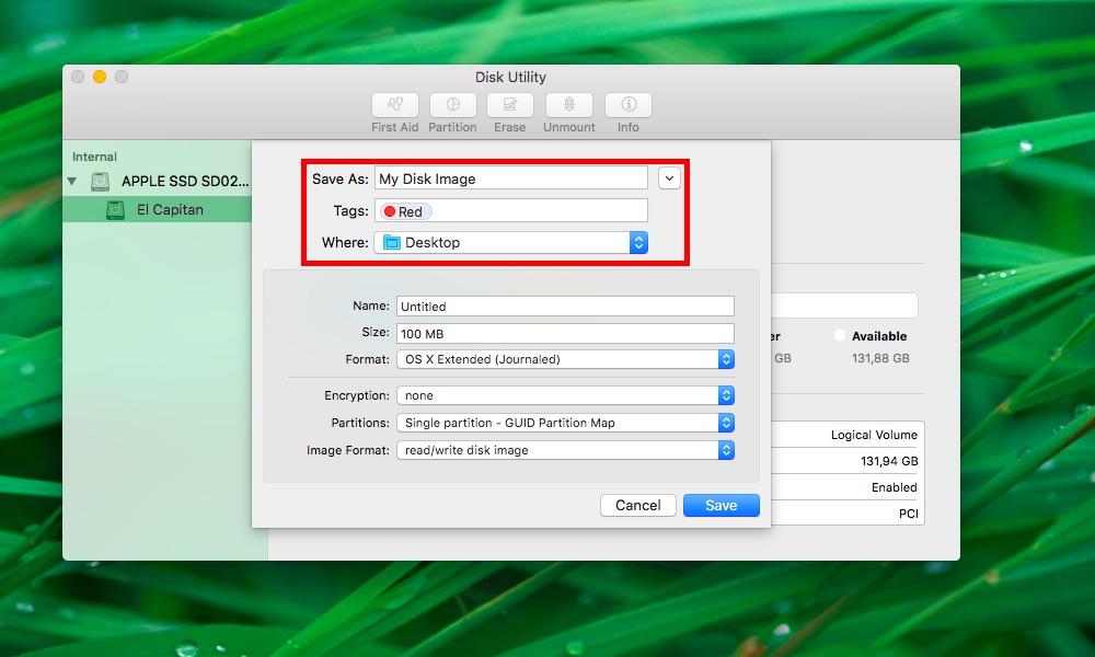 Cómo crear imágenes en blanco Disk Utility Mac captura de pantalla 002