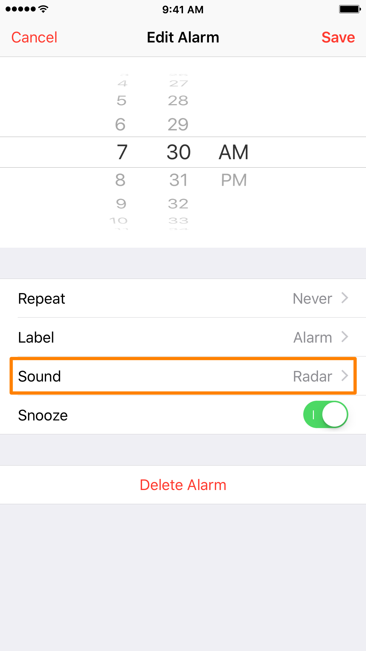 Keep iPhone from vibrtaing during alarm 4