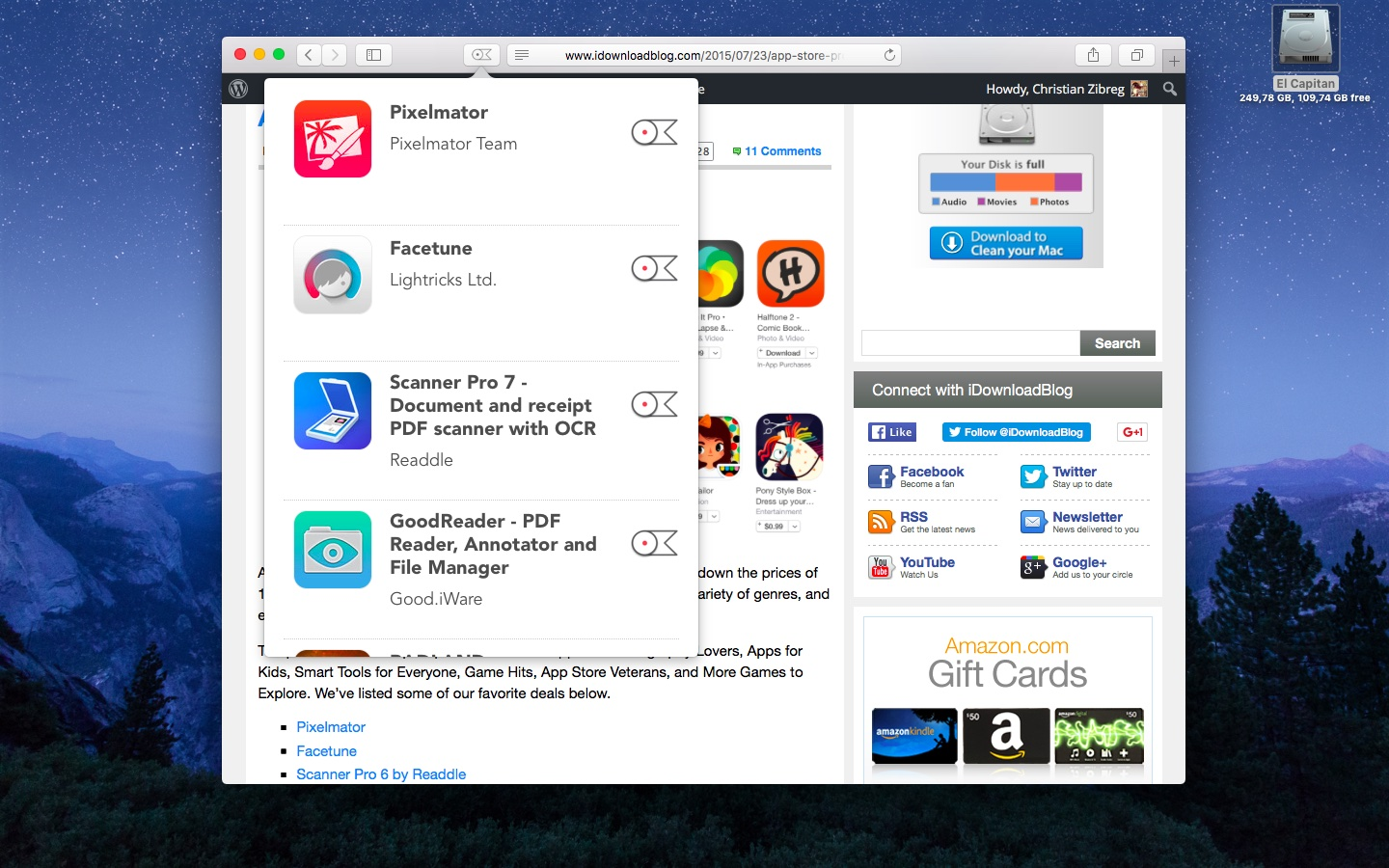 Lookmark 2.0 for iOS desktop Safari extension Mac screenshot 001