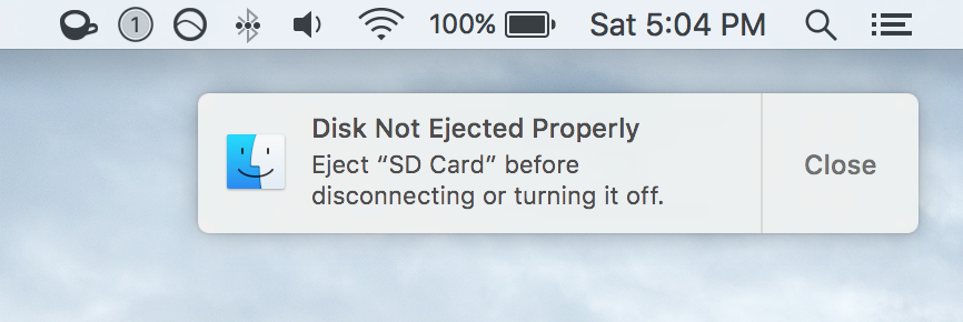 Mac Disk Not Ejected Properly Error