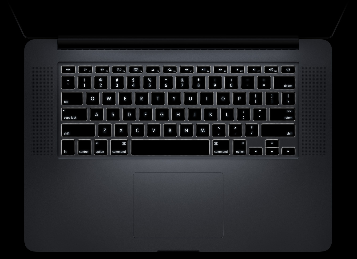MacBook Pro keyboard backlit 001