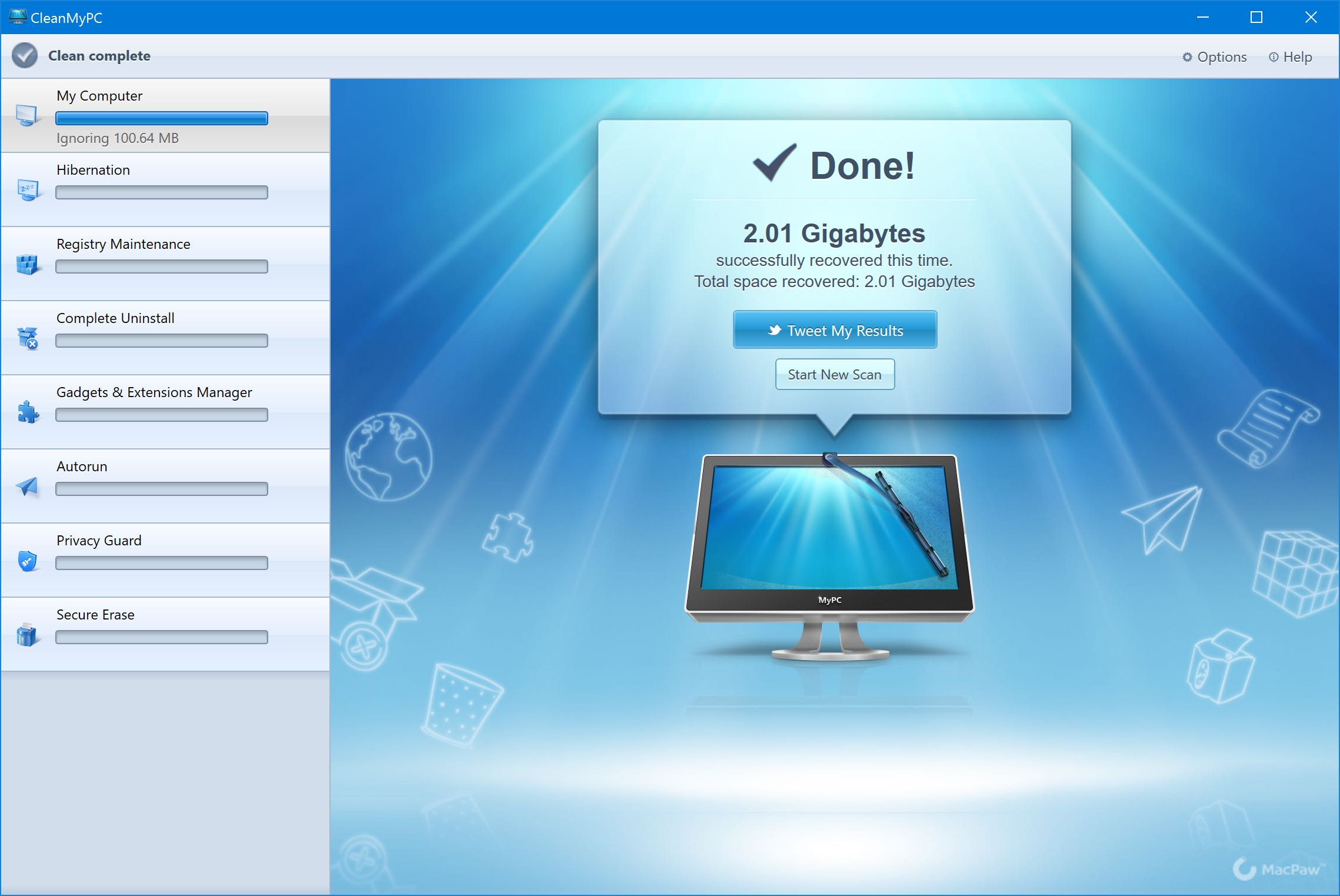 MacPaw CleanMyPC for Windows PC screesnhot 001