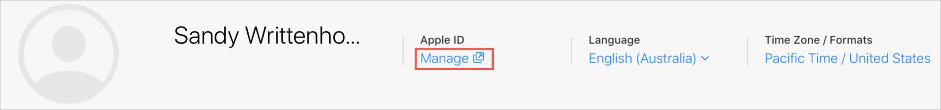 Manage Apple ID on iCloud