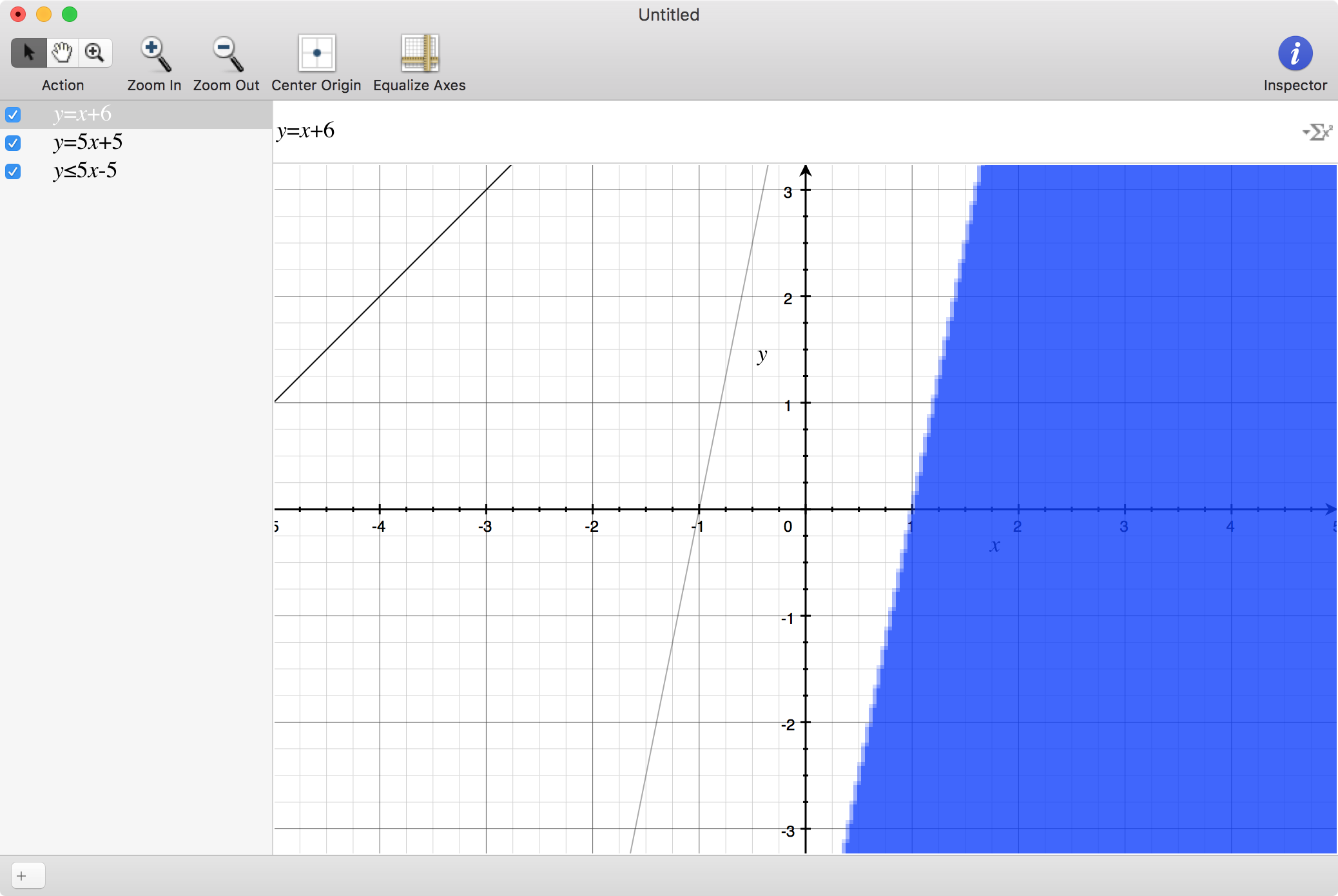 mac graphing calculator - Multiple lines on one graph on a mac