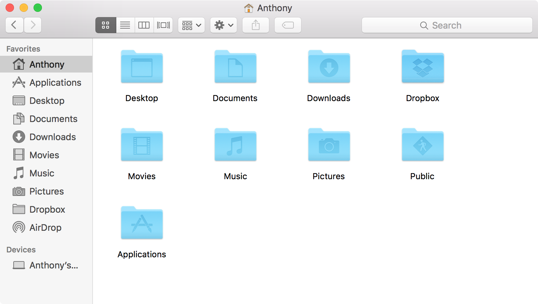 New Finder Window on Mac