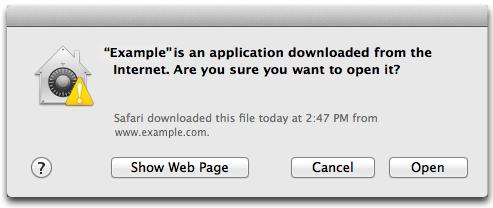 OS X El Capitan File Quarantine promprt Mac screenshot 001