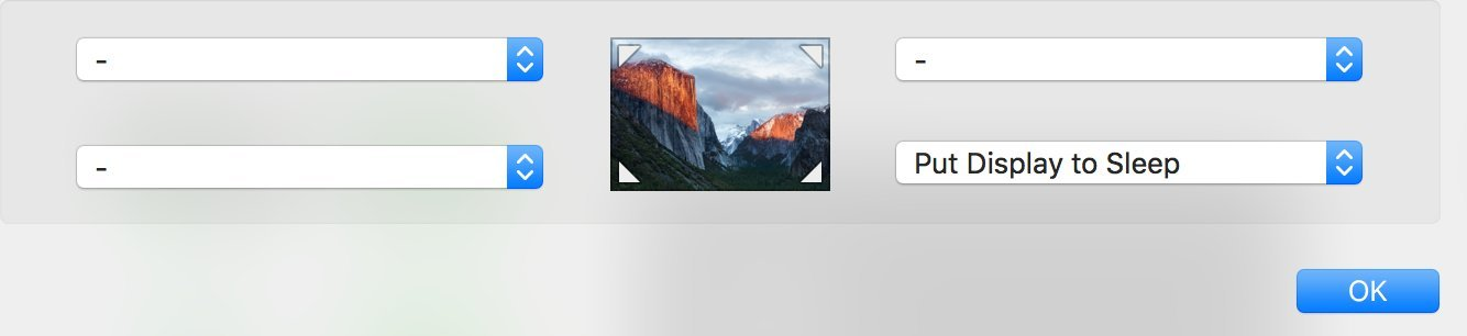 OS X El Capitan Hot Corners Put Display to Sleep MAc screenshot 001