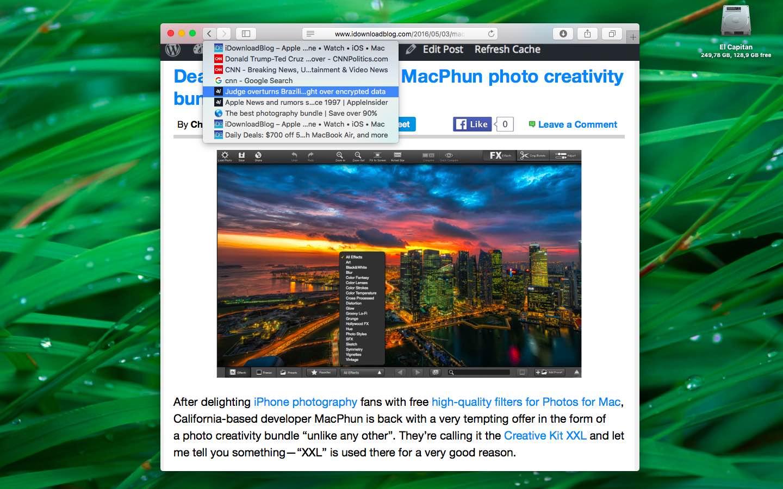 OS X El Capitan Safari view tab history Mac screenshot 001