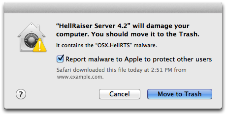 OS X El Capitan malware prompt Mac screenshot 001