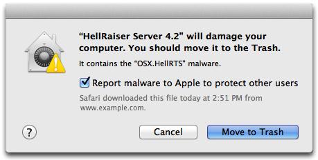 OS X El Capitan malware prompt Mac screenshot 001