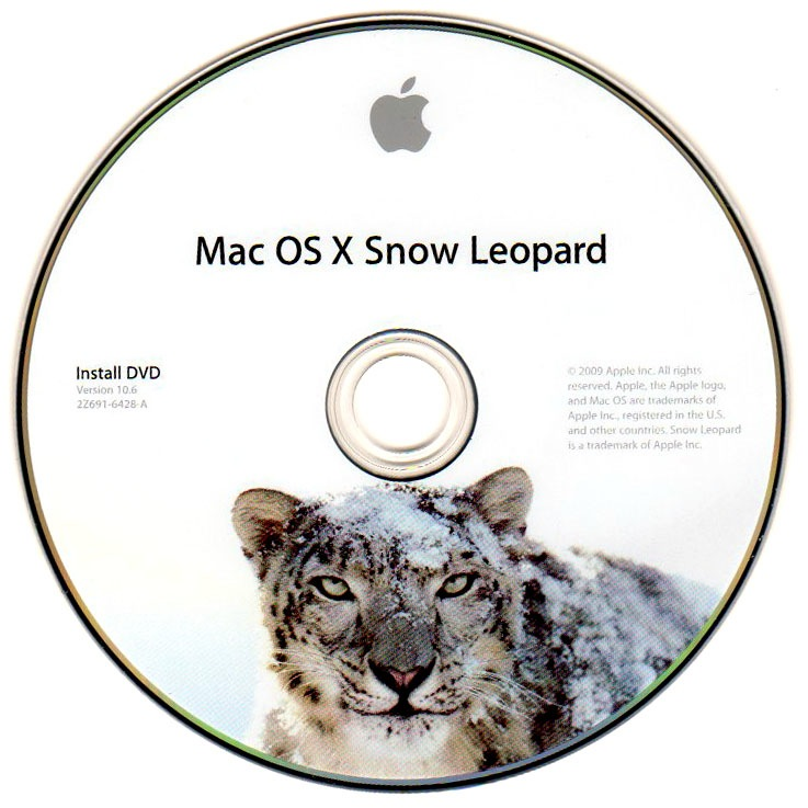 OS X Snow Leopard install DVD image 001