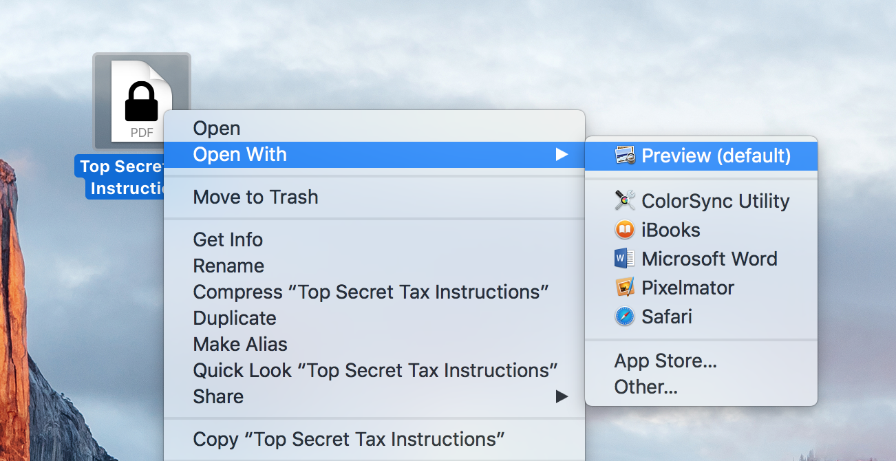 Open Encrypted PDF With Preview on Mac