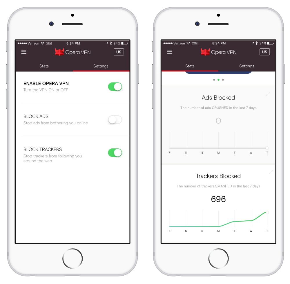 Opera VPN Ad and Tracker Blocker