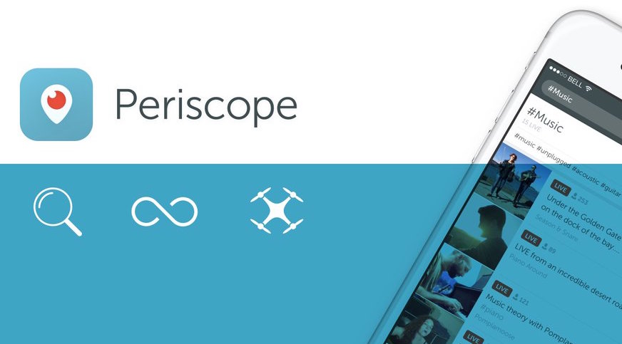 Periscope 1.4 for iOS drone teaser 001