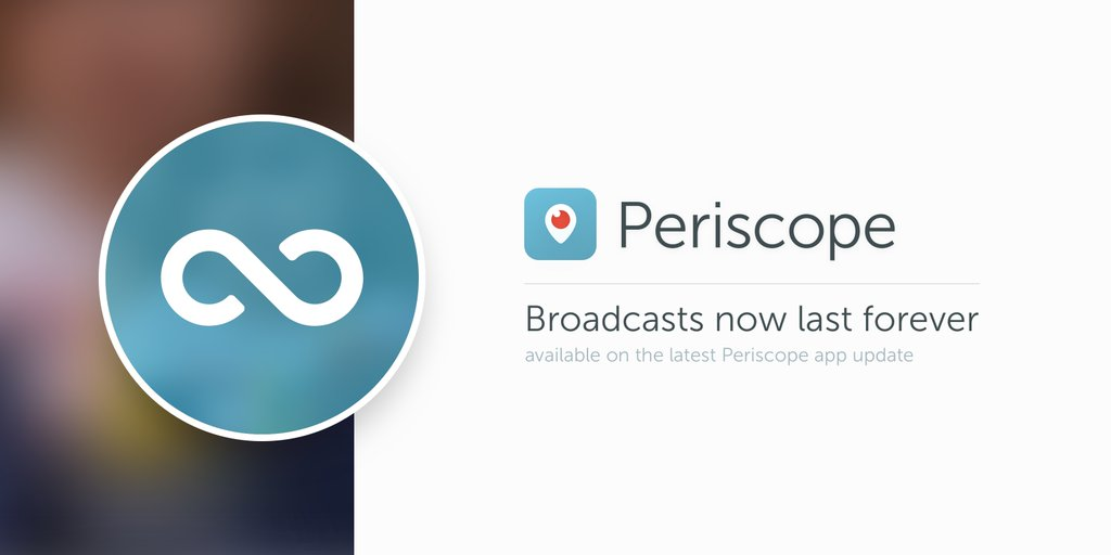 Periscope broadcasts now last forever