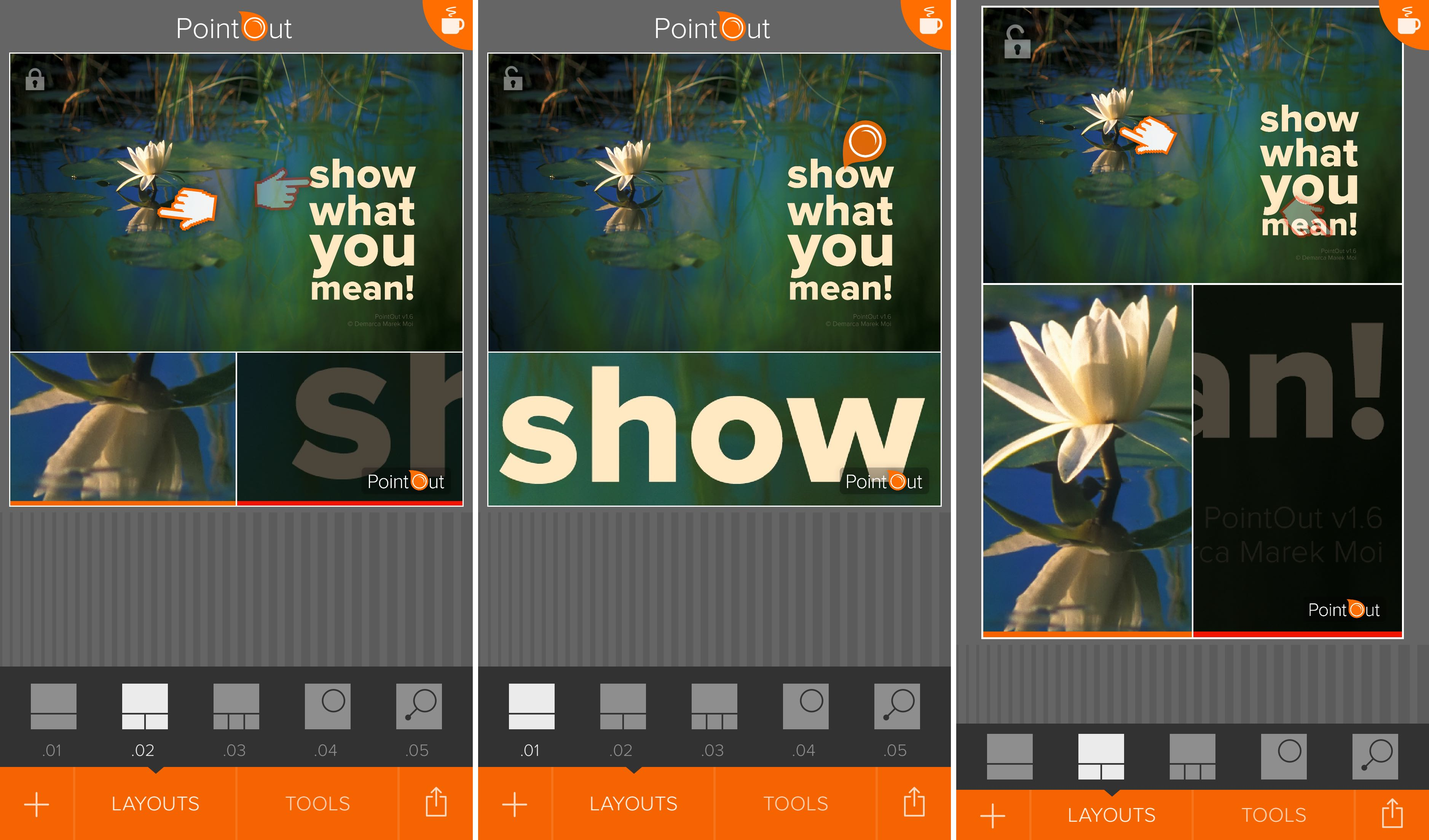 PointOut 1.6 for iOS layouts iPhone screenshot 001