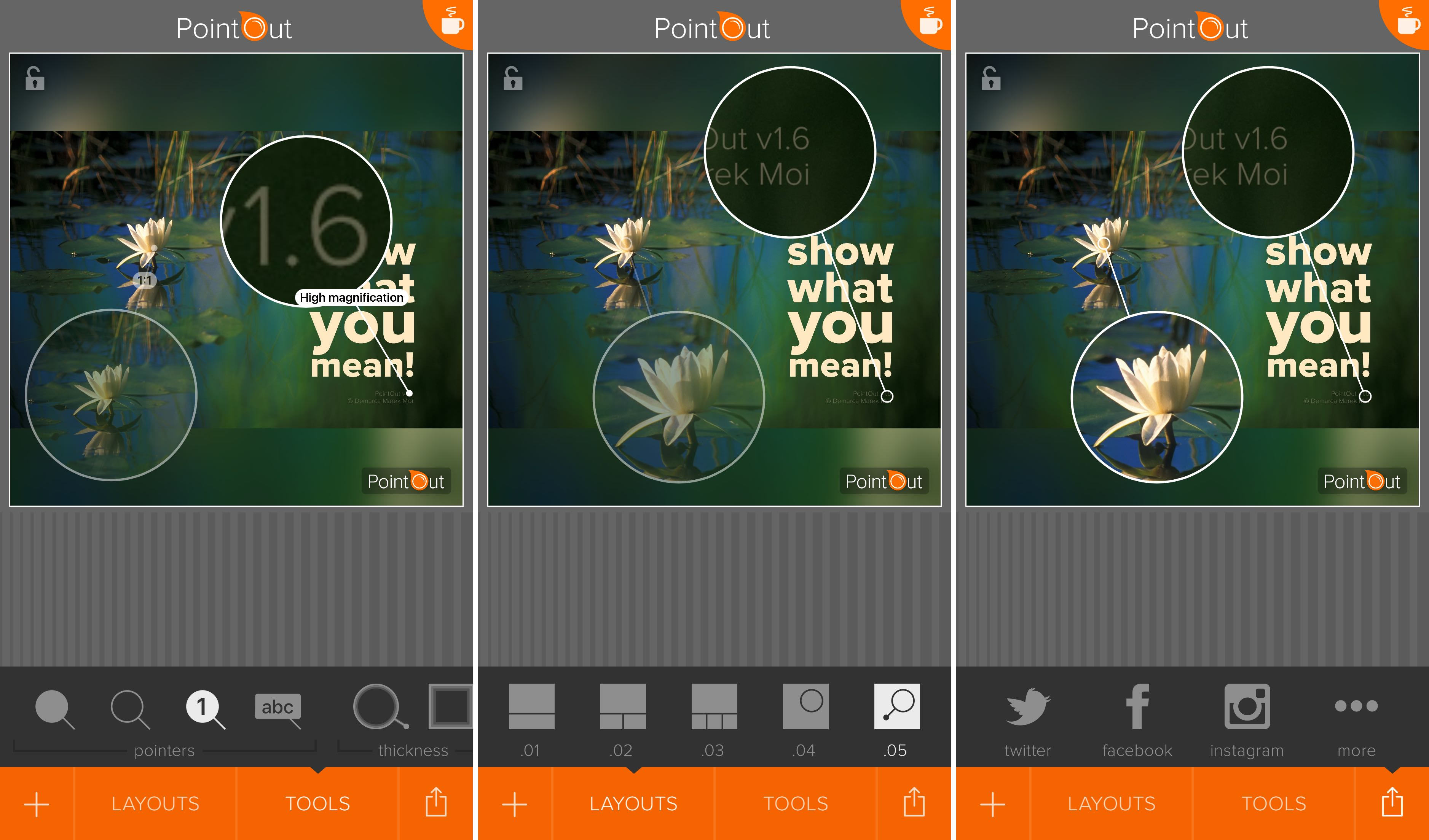 PointOut 1.6 for iOS loupe iPhone screenshot 001