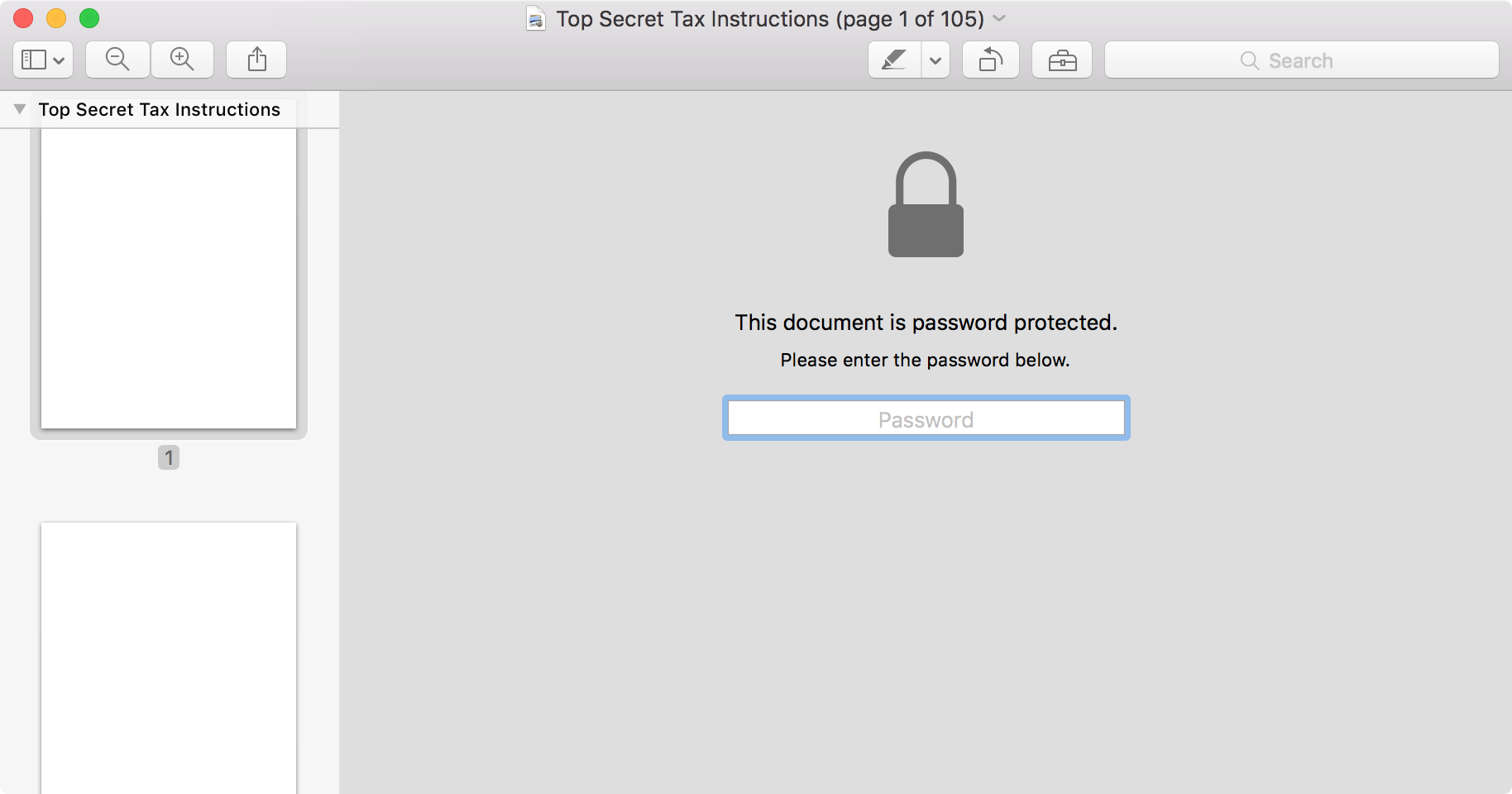 remove password protection from pdf mac