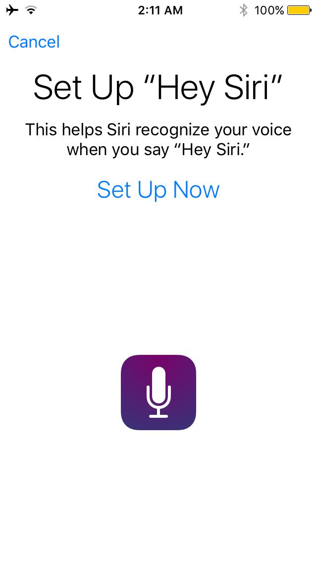 Recalibrate Hey Siri