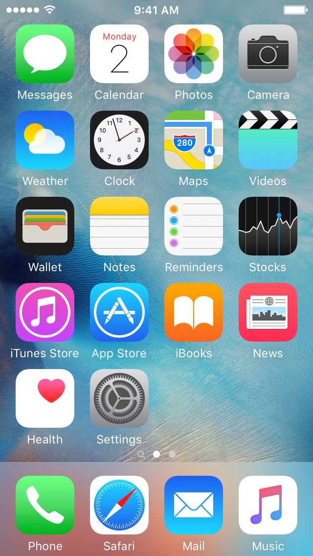 Reset iOS home screen layout