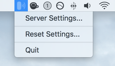 Menu Bar Server for Trackpad app