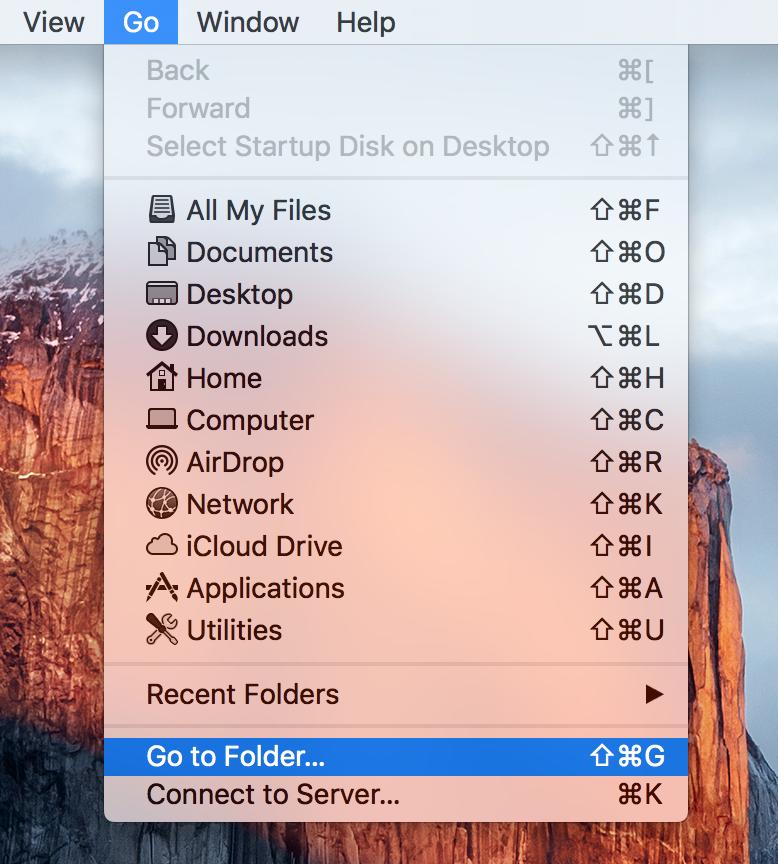 reset lockdown folder - Finder Go to Folder Mac