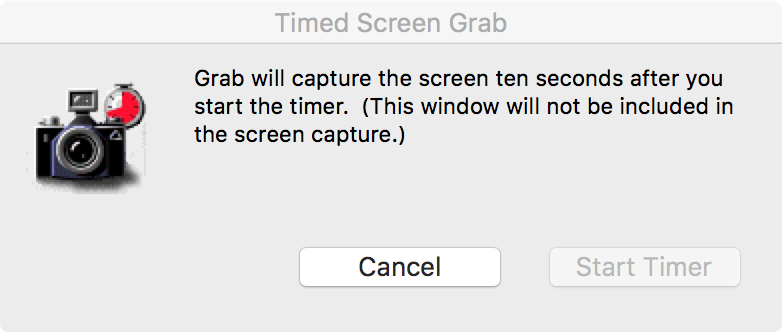 Grab Screenshot Timer Countdown