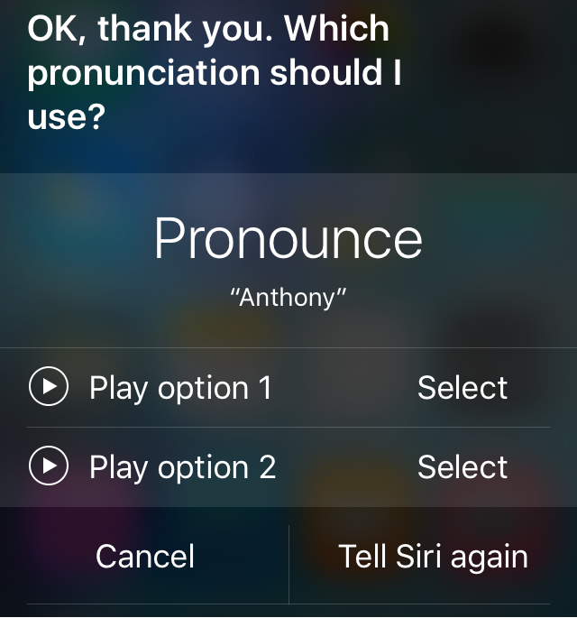 Siri Pronounces My Name Wrong