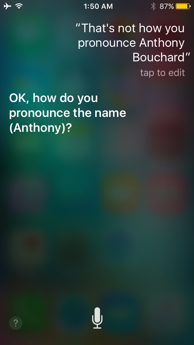 Siri name pronunciation 1