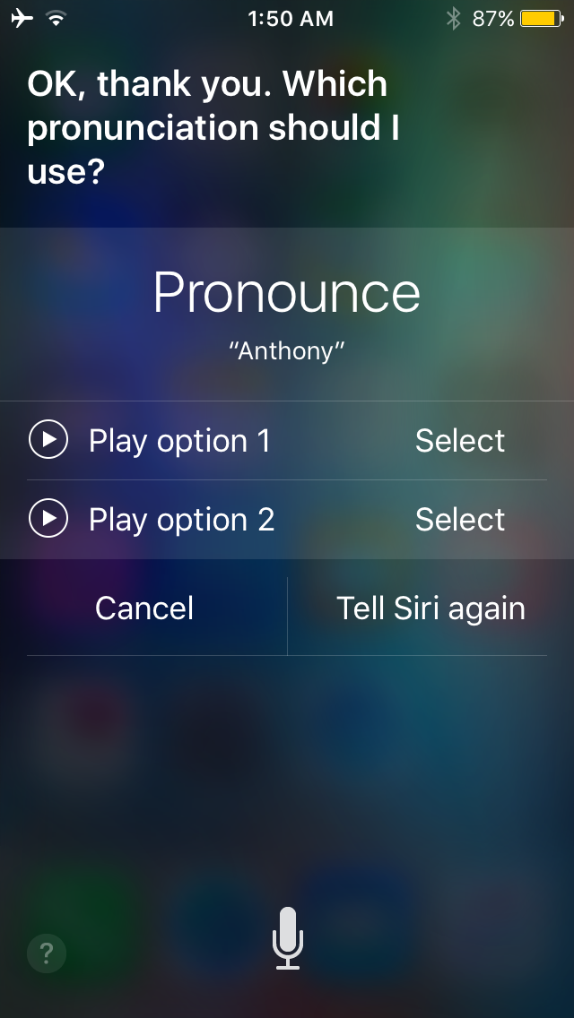 Siri name pronunciation 2