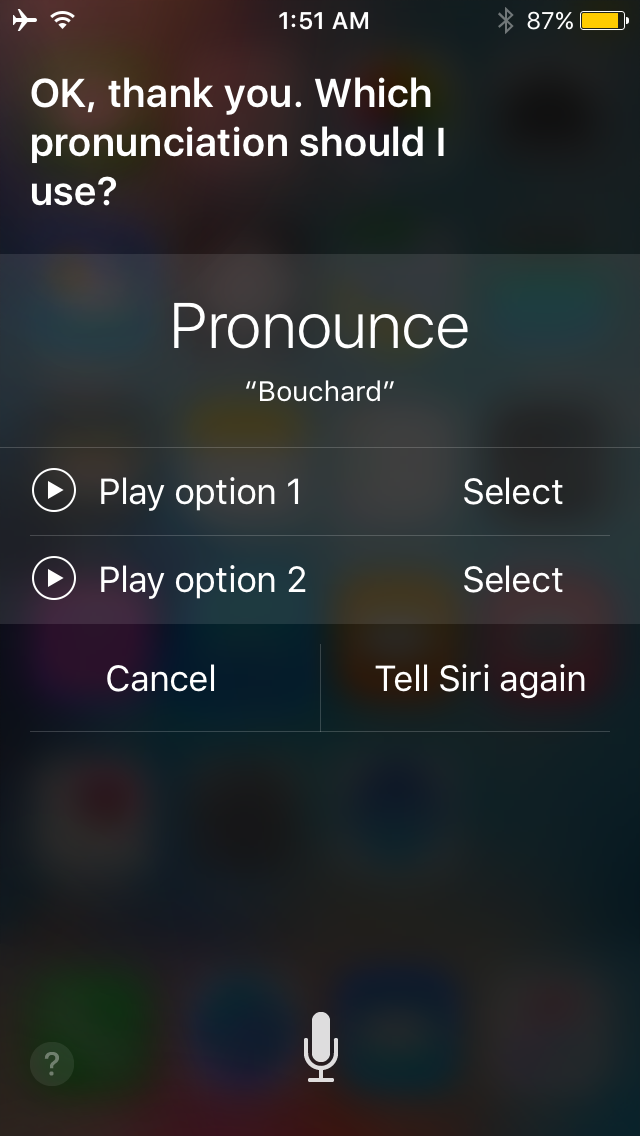 Siri name pronunciation 4