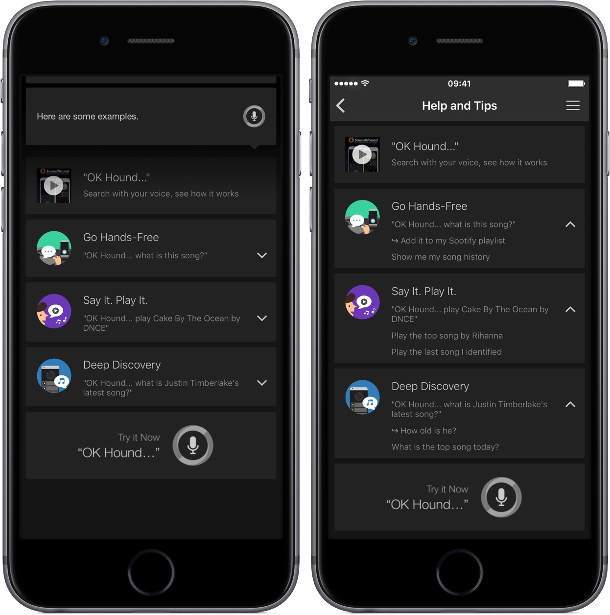 Soundhound 7.1 for iOS iPhone screenshot 001