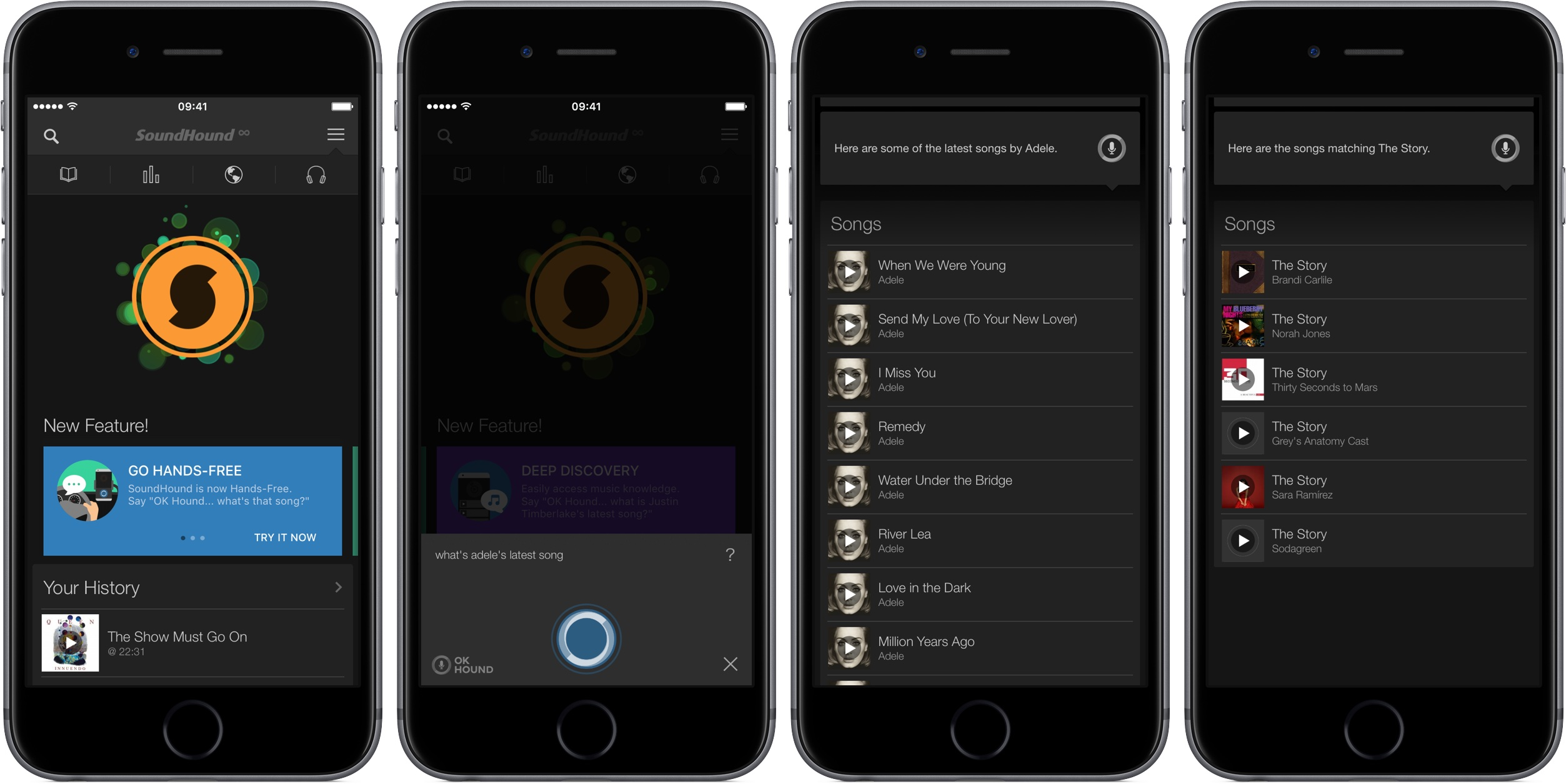 Soundhound 7.1 for iOS iPhone screenshot 002