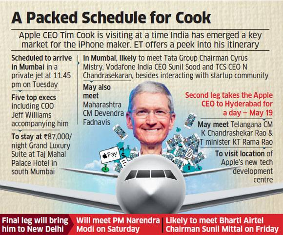 Tim Cook India packed schedule image 001