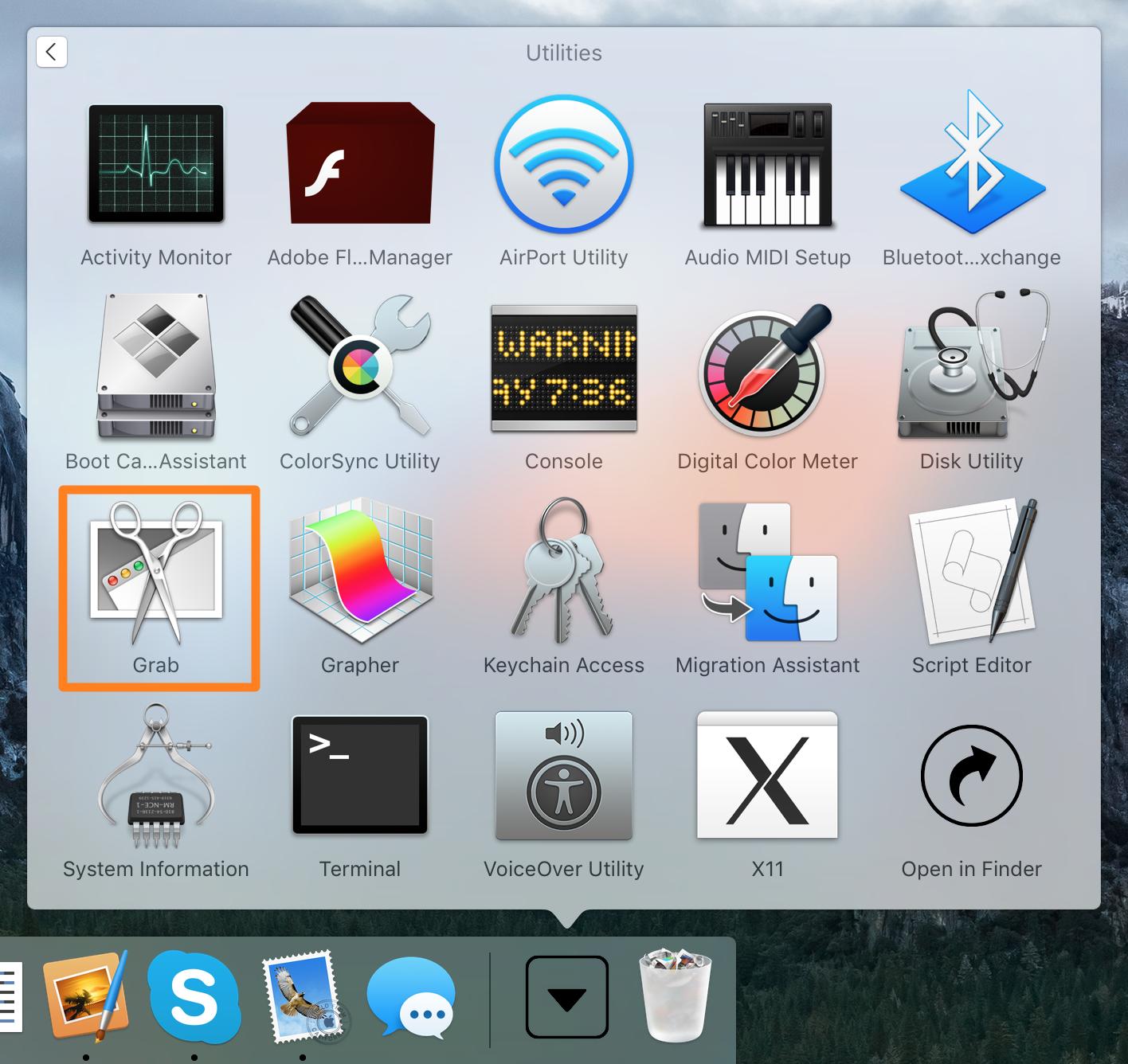 Timed Screenshot Tutorial Grab App