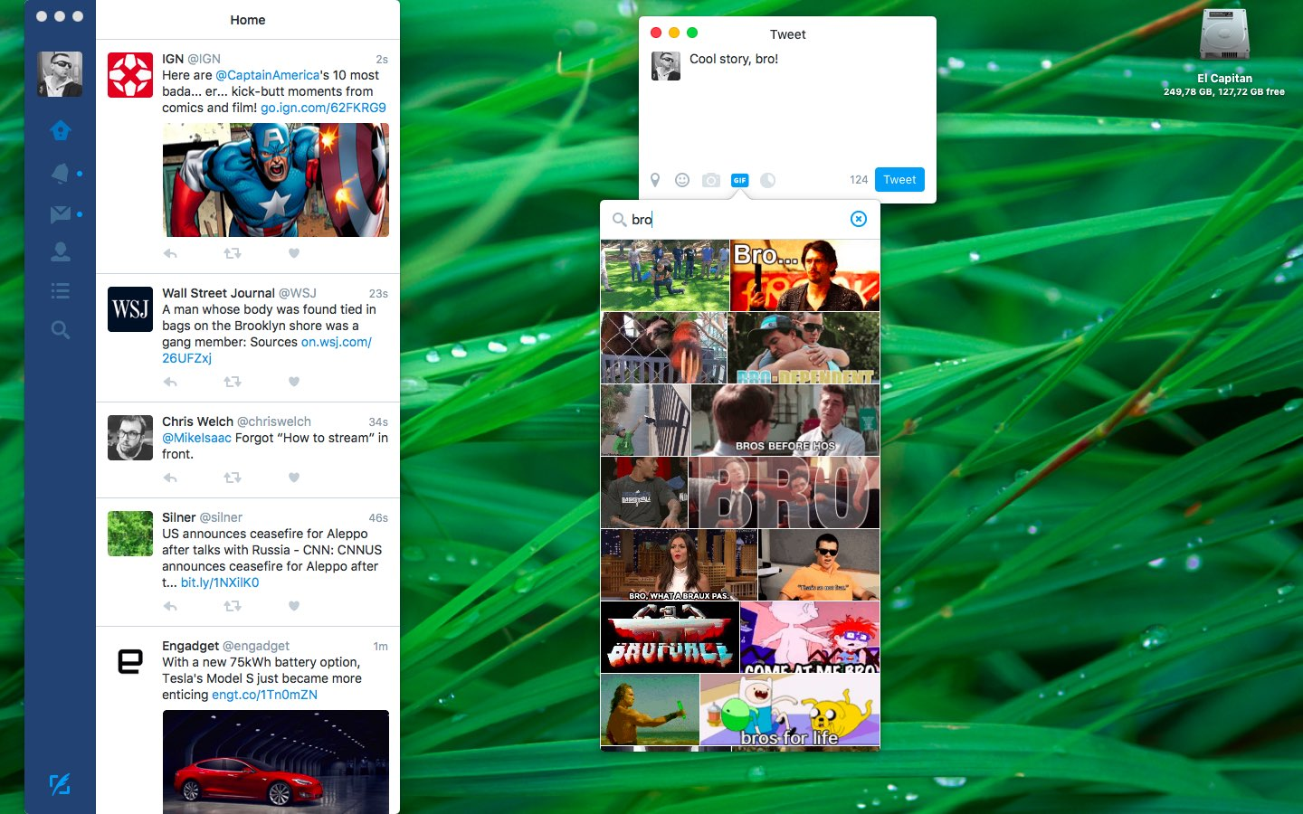 Captura de pantalla 003 de Twitter para OS X GIF Search Mac