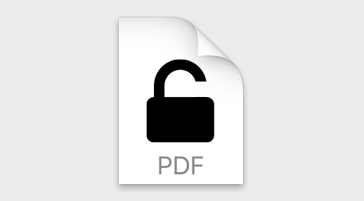 remove password protection from pdf - Un-password protect a PDF file symbol on Mac