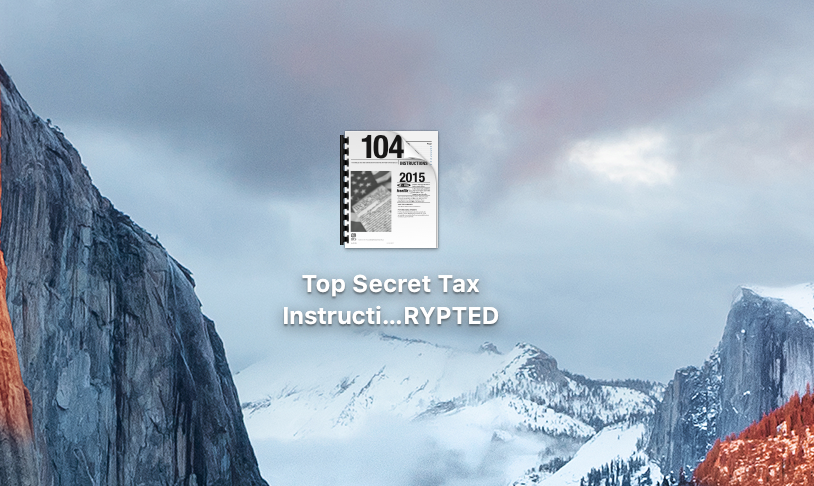Unencrypted PDF file