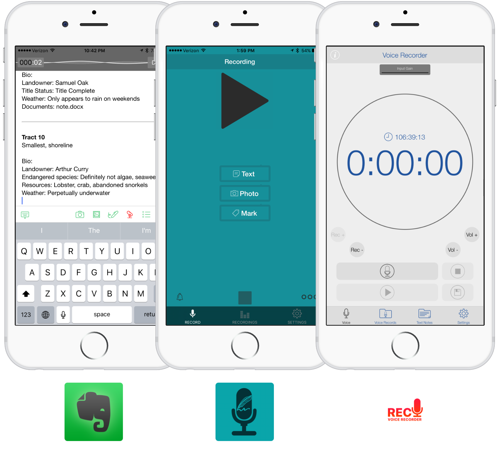 Voice Recorder - Evernote - Smart Recorder