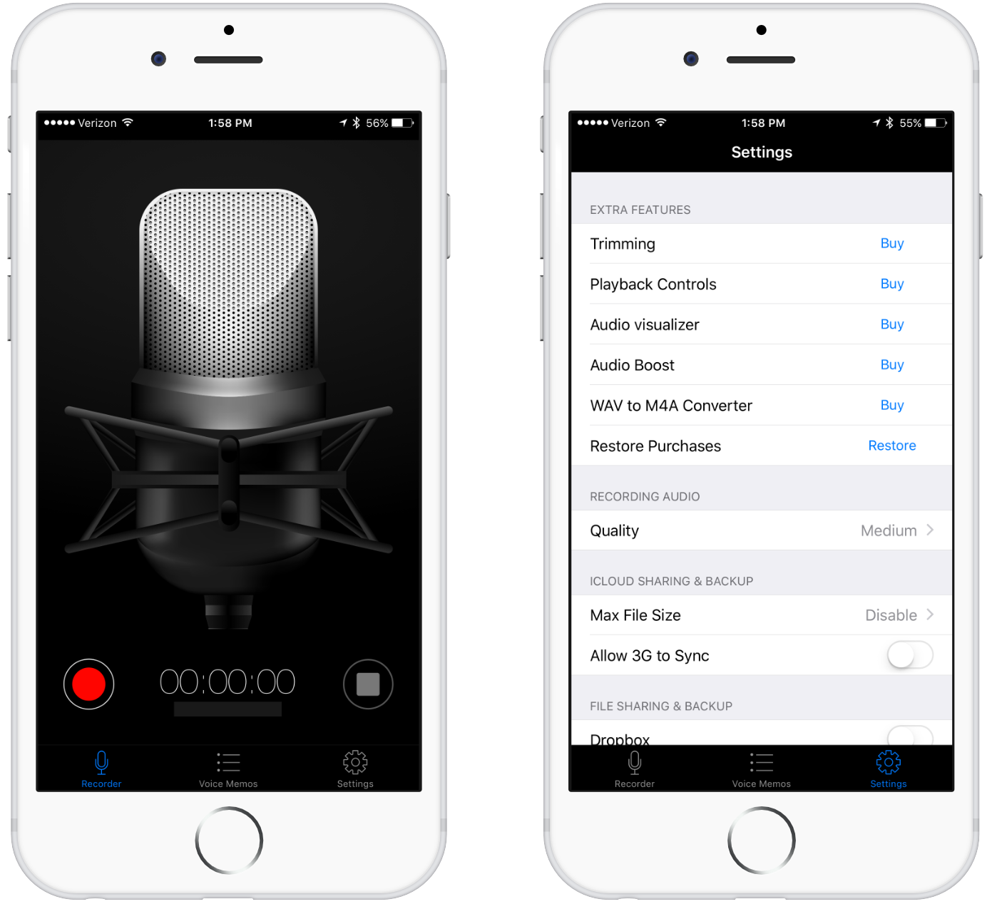 best voice recording apps for iphone and ipad - Voice Recorder HD Screenshots