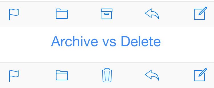 archive delete email