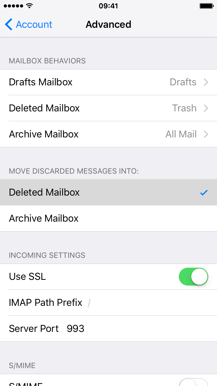 deleted mailbox