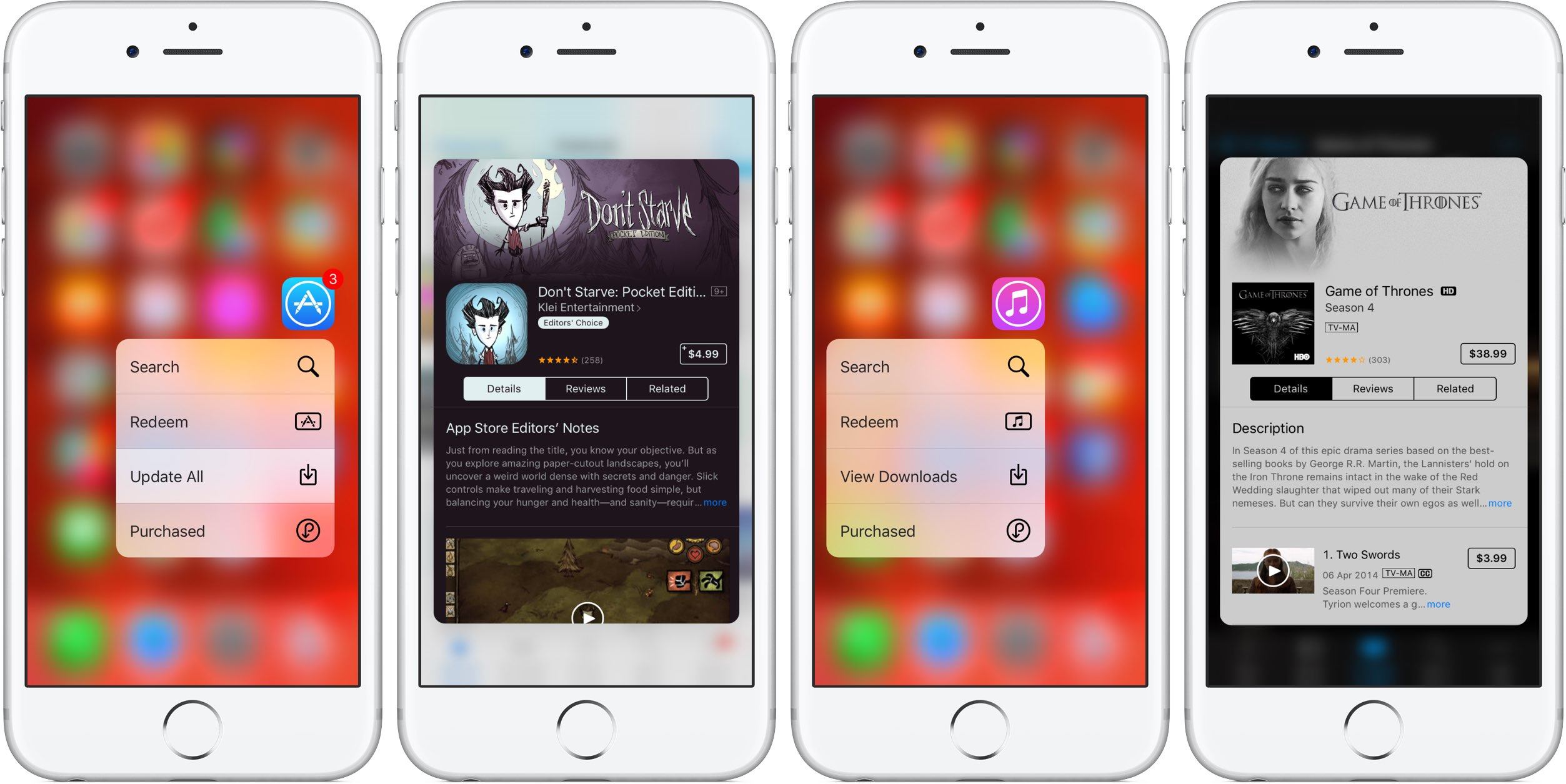 iOS 9 3D Touch App iTunes Store teaser 001